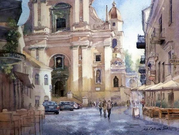 Михал Орловски и его акварельные путешествия