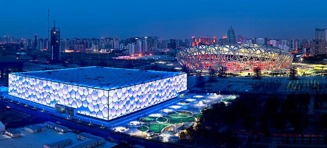 Национальный плавательный комплекс в Пекине (7 фото)