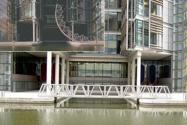 Скручивающийся мост в Лондоне