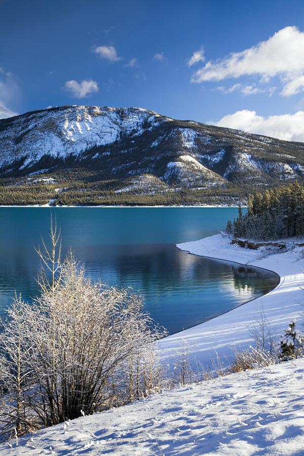 Удивительное озеро Авраам в Канаде