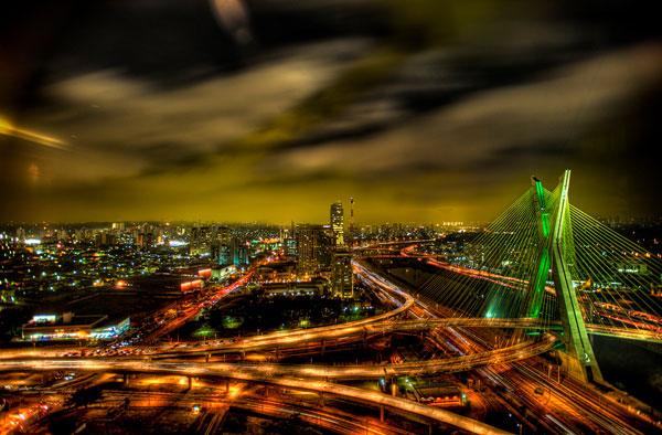 Подвесной мост Оливейра в Сан-Паулу