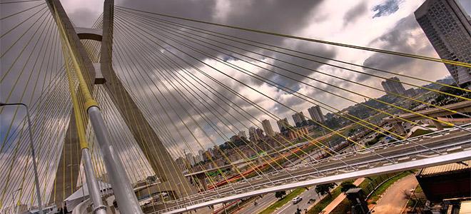 Подвесной мост Оливейра в Сан-Паулу (11 фото)