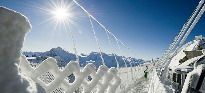 Страшный подвесной мост Titlis Cliff Walk в Альпах (5 фото)