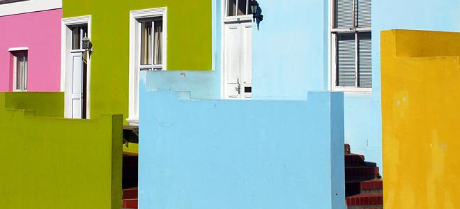 Цветные домики кейптаунского района Бо-Каап (13 фото)