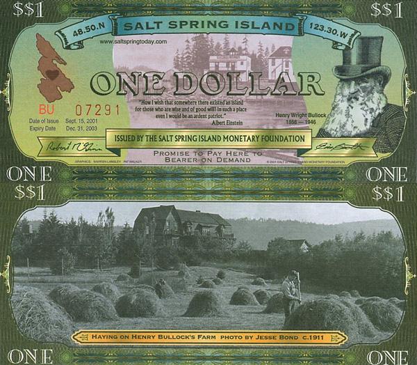 Доллары острова Солт Спринг