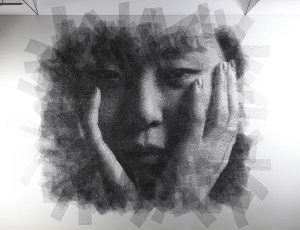 Сон Мо Парк и его портреты из проволоки