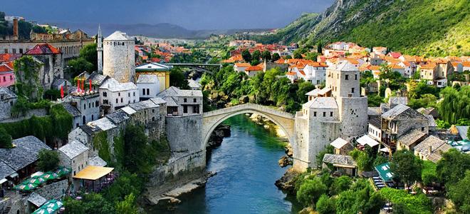 Старый мост в городе Мостар (7 фото)