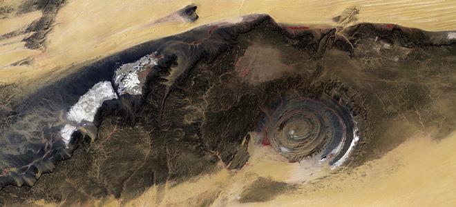 Структура Ришат — глаз пустыни Сахара (7 фото)