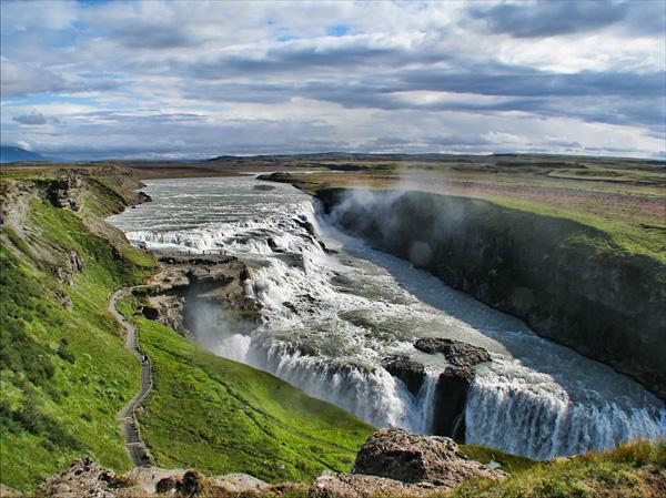 Водопад Гюдльфосс на реке Хвитау (8)