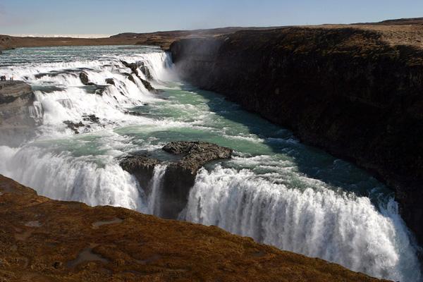 Водопад Гюдльфосс на реке Хвитау (5)