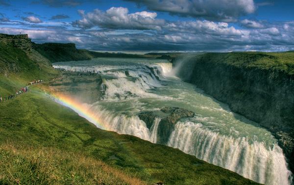 Водопад гюдльфосс на реке хвитау 9
