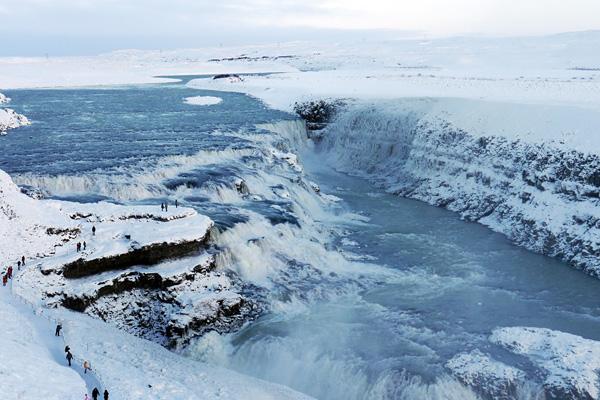 Водопад Гюдльфосс на реке Хвитау (2)