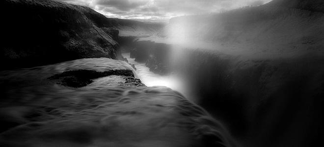Водопад Гюдльфосс на реке Хвитау (9 фото)