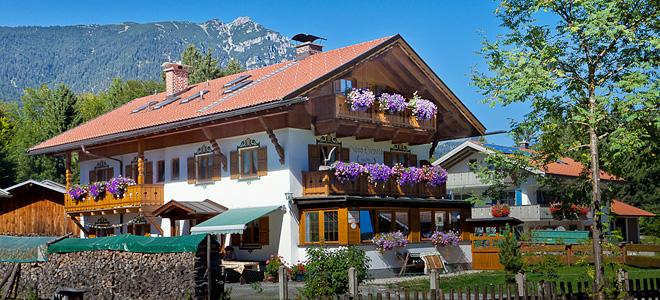 Живописный городок Гармиш-Партенкирхен в Альпах (21 фото)