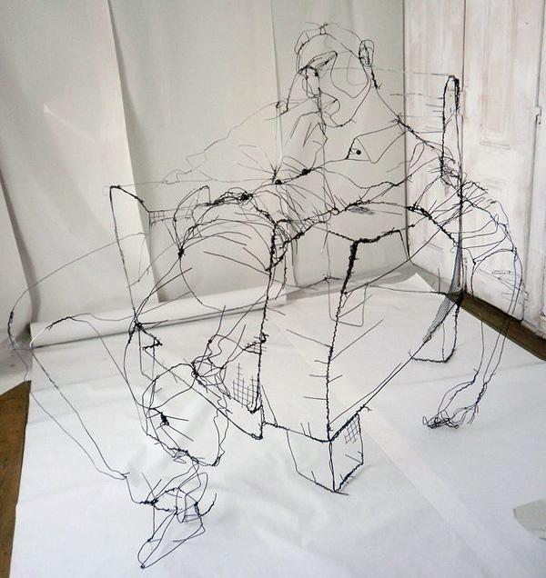 Дэвид Оливейра и его скульптуры-рисунки