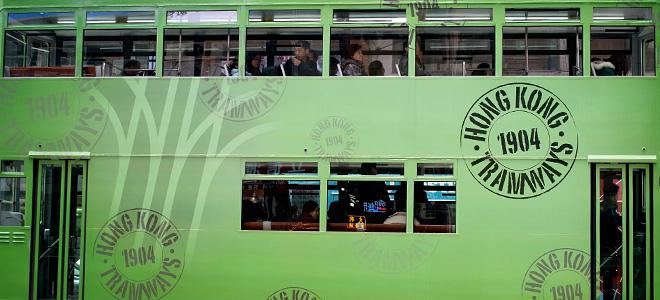 Двухэтажные трамваи Гонконга (11 фото)