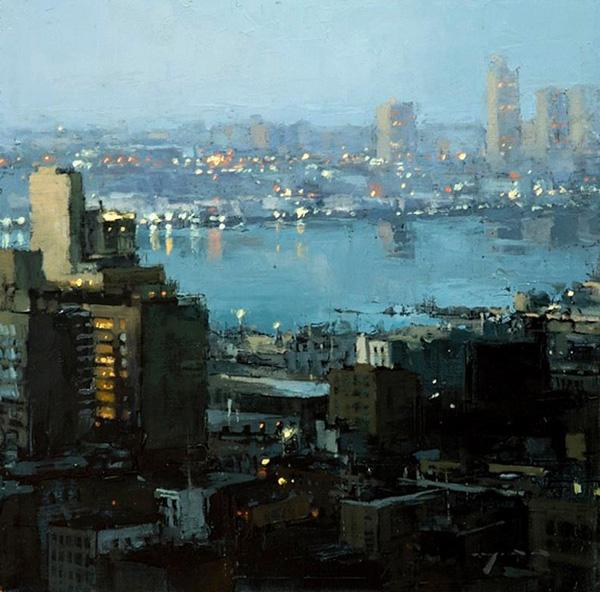Джереми Манн и его городские пейзажи