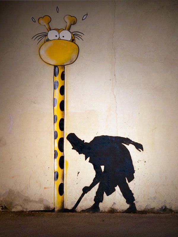 Кенни Рэндом и его добрый стрит-арт