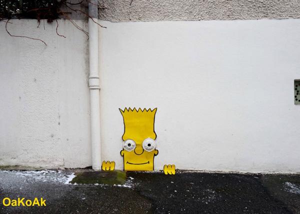 Юмор в стрит-арте от OaKoAk