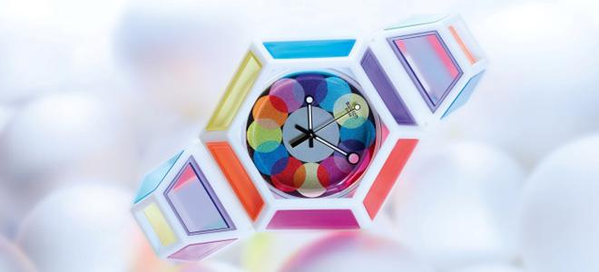 Радужные часы Swatch от Фред Батлер (5 фото)
