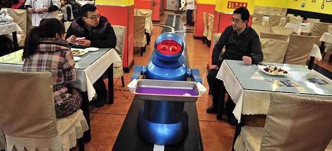 Ресторан роботов в китайском городе Харбин (7 фото)