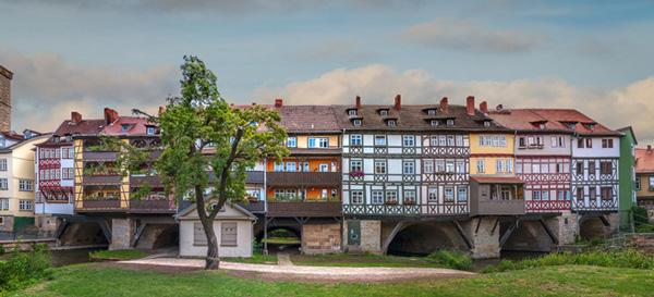 Необычный мост Кремербрюке в Эрфурте