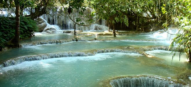 Водопад Куанг Си в Лаосе (7 фото)