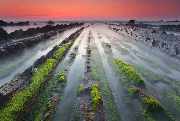 Турбидиты на побережье города Баррика