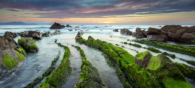 Живописные турбидиты на испанском побережье (7 фото)