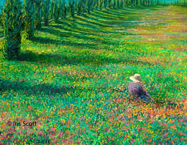 Айрис Скотт и ее картины пальцами
