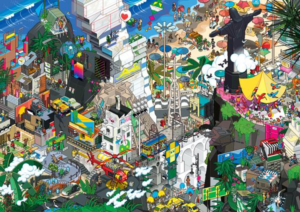 Пиксельная графика студии EBoy