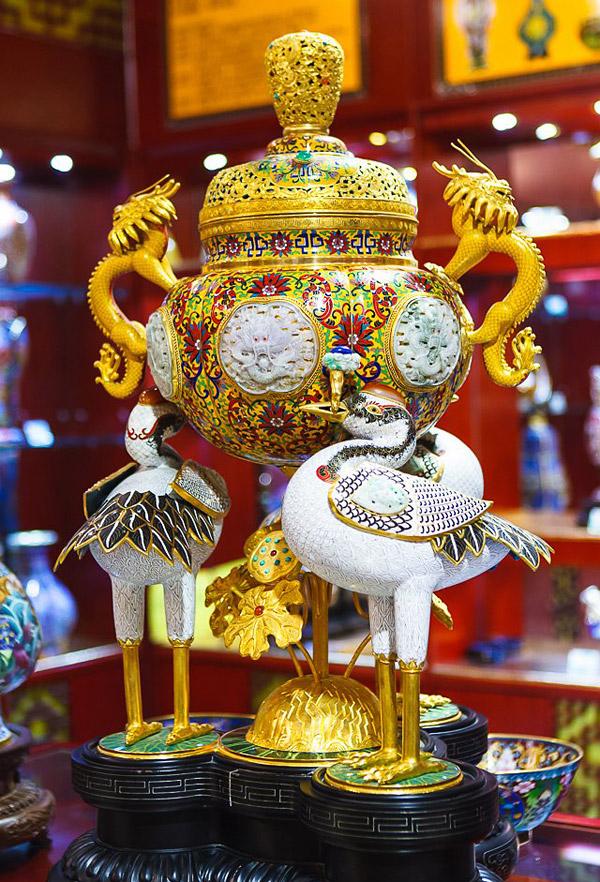 Китайская перегородчатая эмаль - цзинтайлань