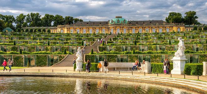 Дворцово-парковый комплекс Сан-Суси в Потсдаме (19 фото)