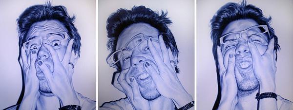 Хуан Франсиско Касас и его картины ручкой