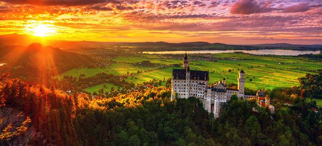 Баварский замок Нойшванштайн (11 фото)