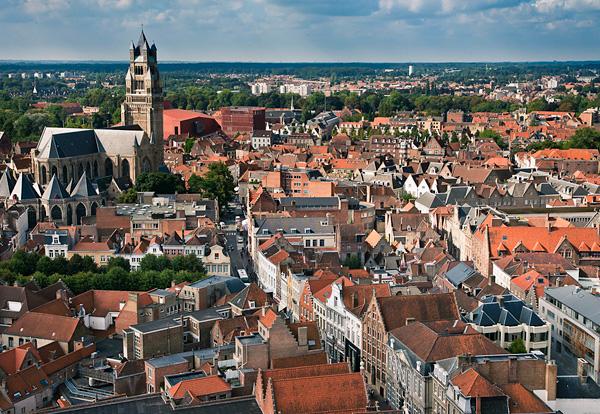 Город Брюгге в Бельгии