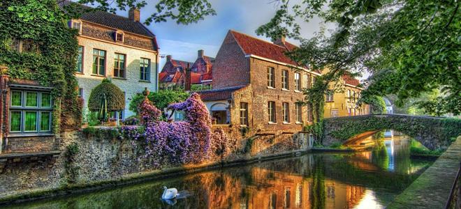 Уютный покой города Брюгге в Бельгии (15 фото)