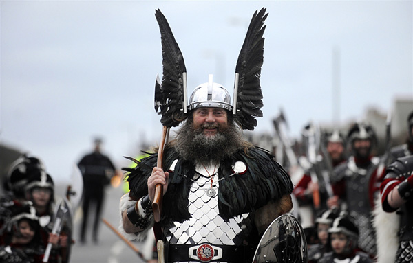 Ап Хелли Аа - фестиваль огня викингов