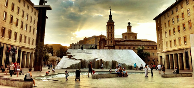 Фонтан Испанидад в Сарагосе (7 фото)