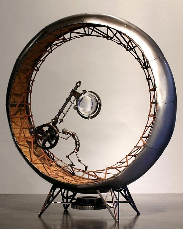 Грег Брозертон и его стимпанк скульптуры