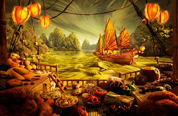 Карл Уорнер и его пейзажи из еды