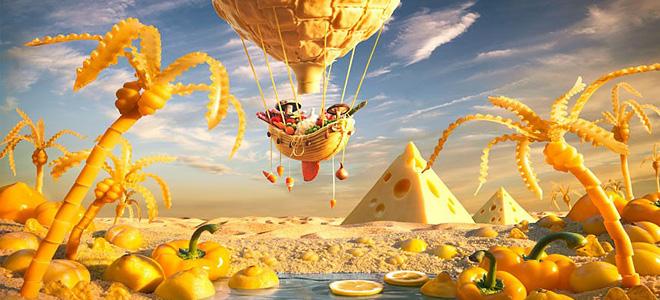 Карл Уорнер и его пейзажи из еды (13 фото)