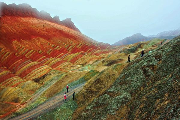 Ландшафт Дэнксия в Китае