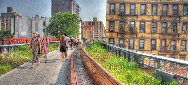 Необычный парк Хай-Лайн в Манхэттене (17 фото)