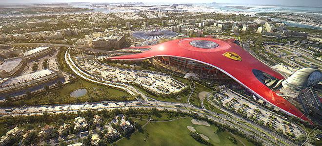 Тематический парк «Мир Феррари» в Абу-Даби (13 фото)