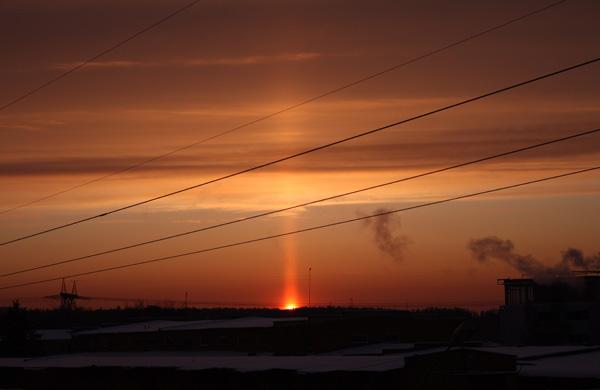 Солнечные столбы
