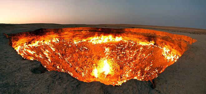 Дарваза — «Врата ада» в Туркменистане (11 фото)