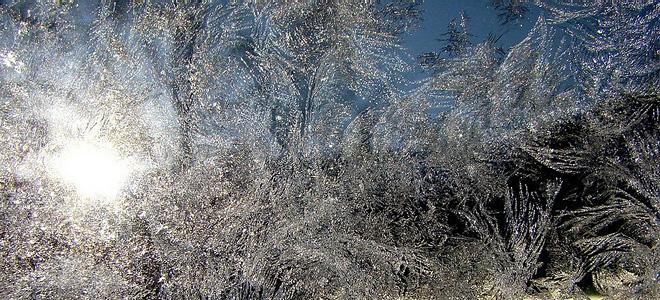 Красота зимних узоров на стеклах (9 фото)