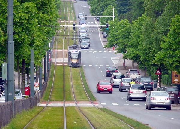 Газоны на трамвайных путях в Европе
