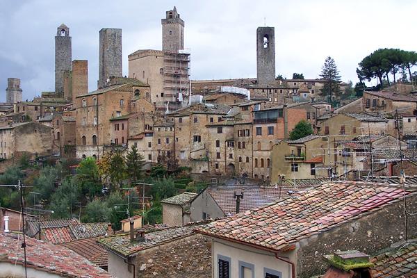 Итальянский городок Сан-Джиминьяно